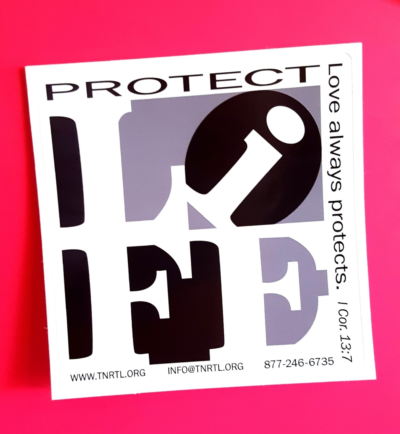 Protect Life Bumper Sticker