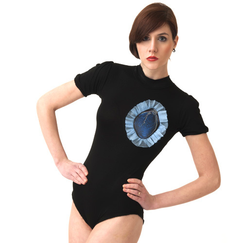 Body / Black and Blue Heart 2  - SIZE XS
