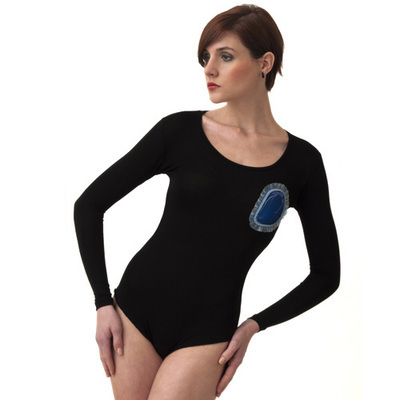 Body / Black and Blue Heart 1  - SIZE XS