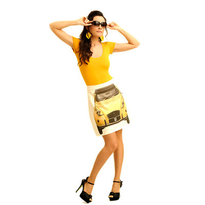 SKIRT - CV  / yellow