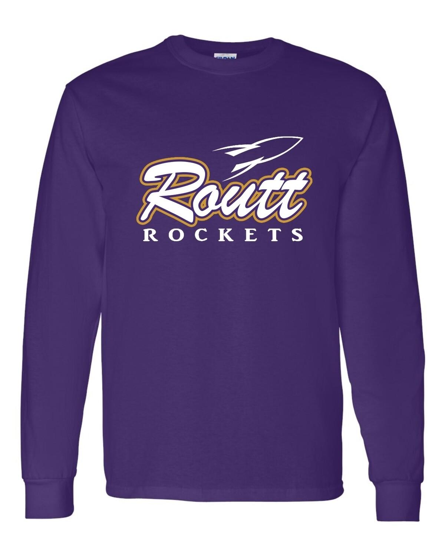ROUTT-ROCKETS PURPLE-Gildan - Ultra Cotton Long Sleeve T-Shirt