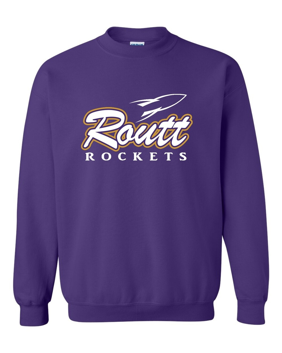 ROUTT-ROCKETS PURPLE-Gildan - Heavy Blend Crewneck Sweatshirt