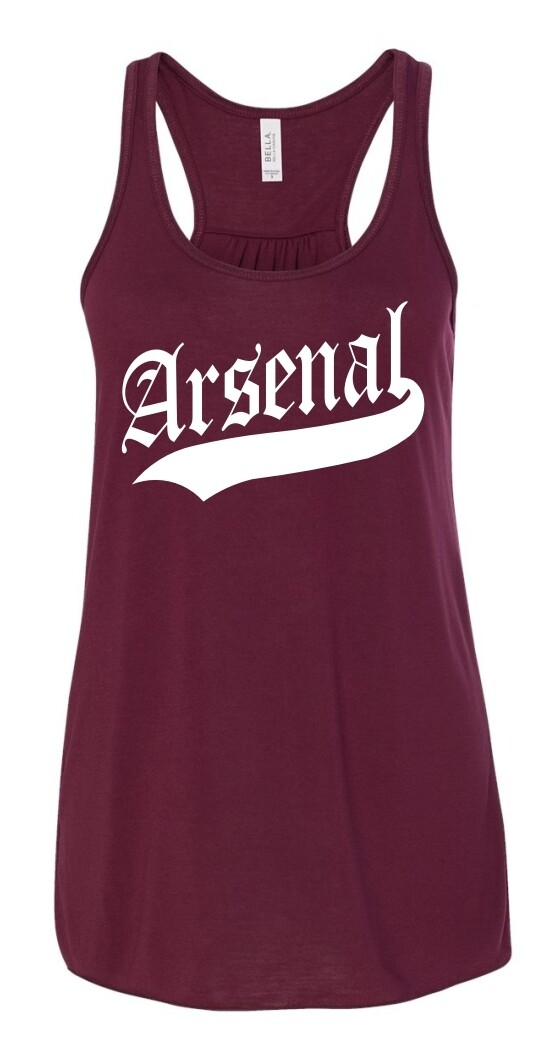 ARSENAL-8800 MAROON LADIES FLOWY RACERBACK TANK TOP