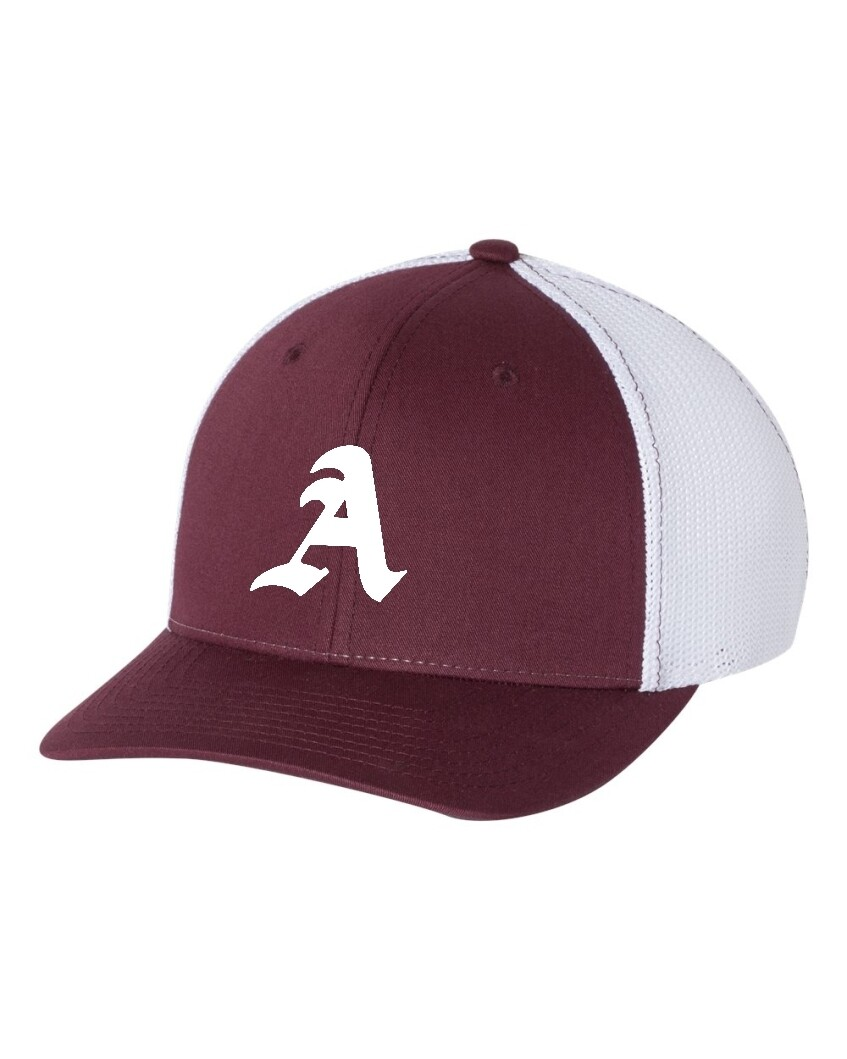 ARSENAL-110 MAROON/WHITE FITTED BASEBALL CAP