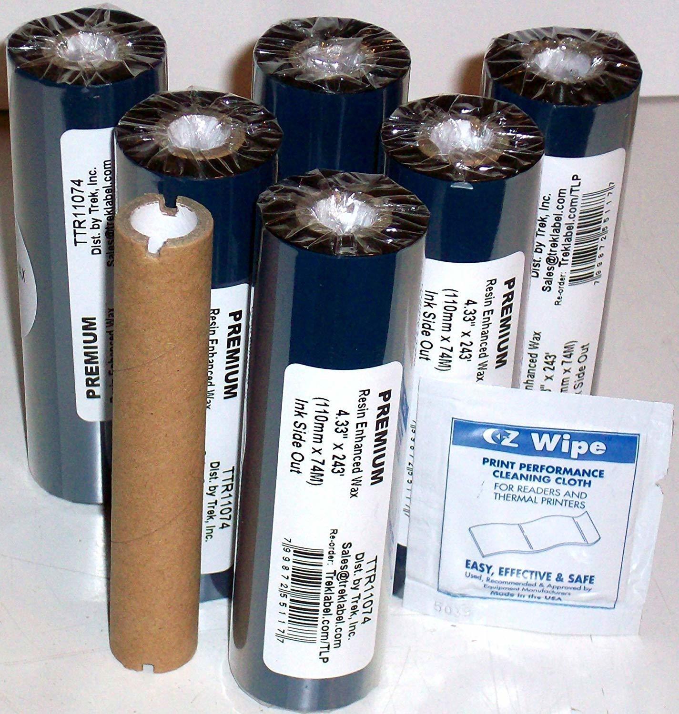 1 ROULEAU: Ruban pour Imprimante Facture Thermique - Thermal Transfer Ribbons, Black