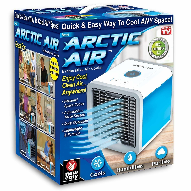 Mini Air Cooler Refroidisseur Purificateur et Humidifiant d'Air - Personal Air Cooler White (NOUVEAU MODELE AVEC TELECOMMANDE)