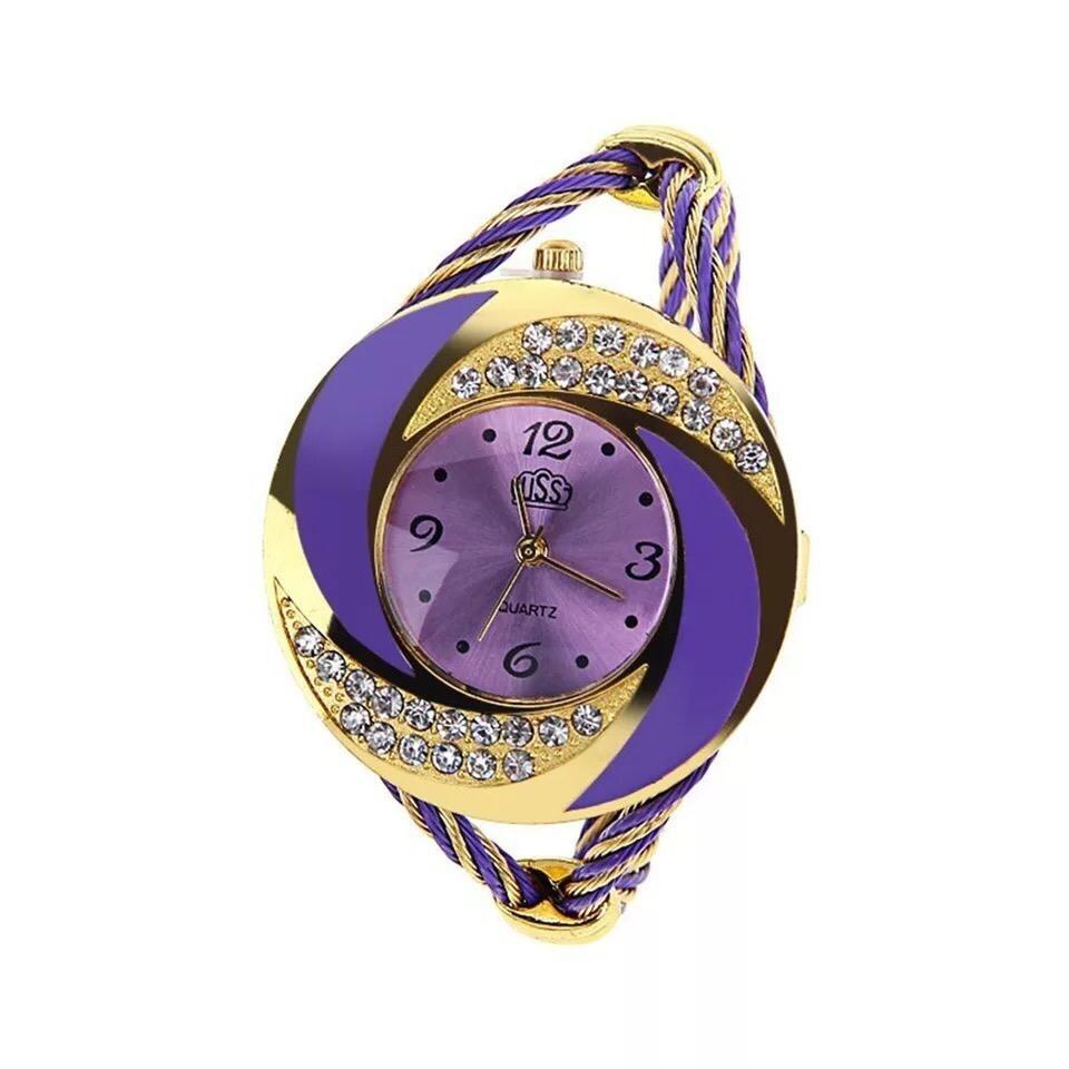 Montre Fashion pour Femme - Couleur Or-Mauve - Women's Watch Quartz Gold-Black