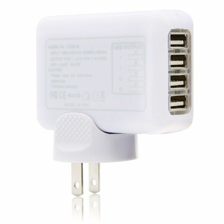 Le Meilleur Chargeur Disponible 4 Port USB Charger Hub - Port Charge Rapide: 2, Port Charge Ordinaire: 2 - ShopEasy