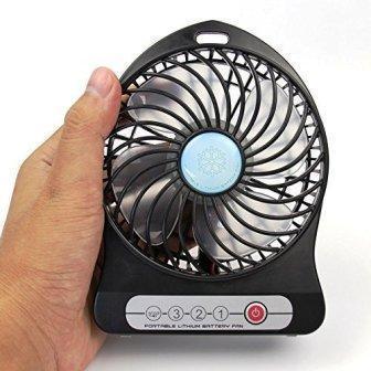 Mini Ventilateur Fan avec Rechargeable Battery 18650 4.7 V, 5000mAh - ShopEasy Depuis 2005