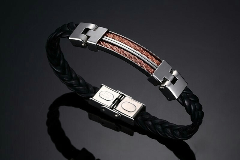Stainless Bracelet - Double Gold