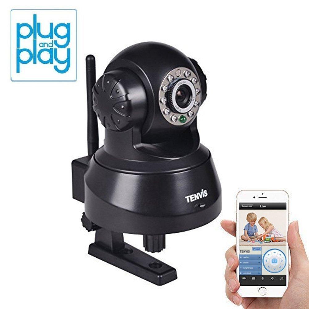 Camera de Patrouille IP Camera Surveillance Internet avec Micro -Vision Nocturne, Detecteur de Mouv. Controle a Distance de PARTOUT SUR LA PLANETE - Android- Laptop TENVIS VENDU A DES CLIENTS AVISES