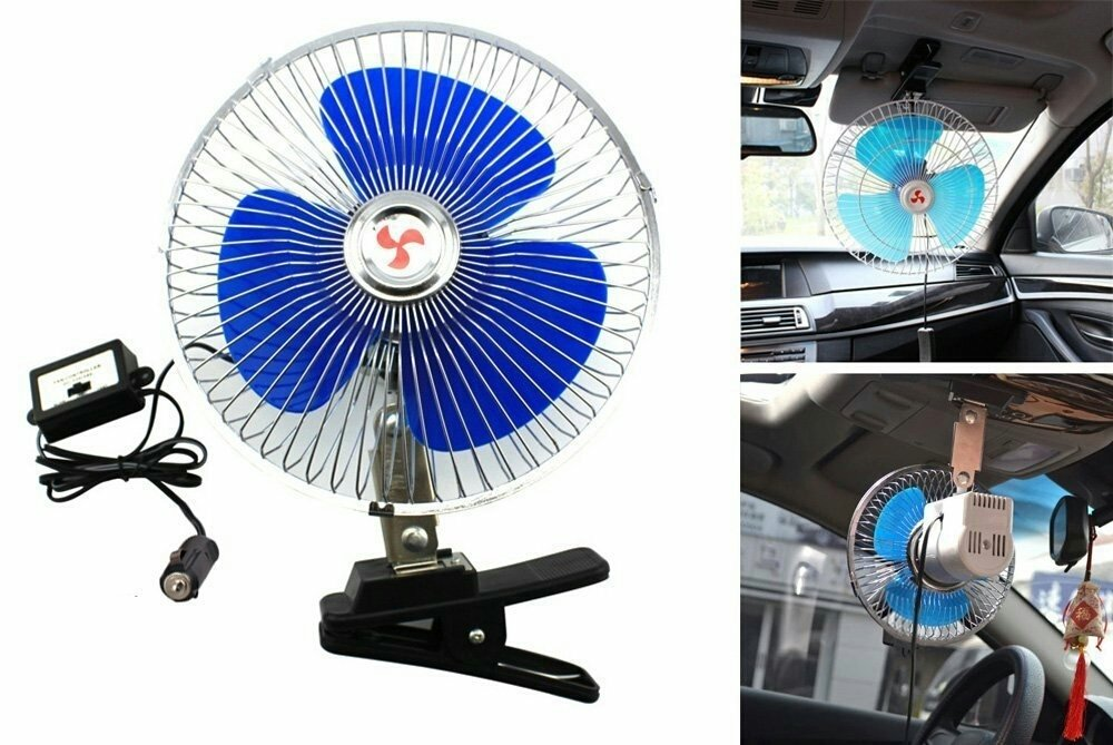 Ventilateur Fan Lighter 12 Volts pour Voiture avec Clamp