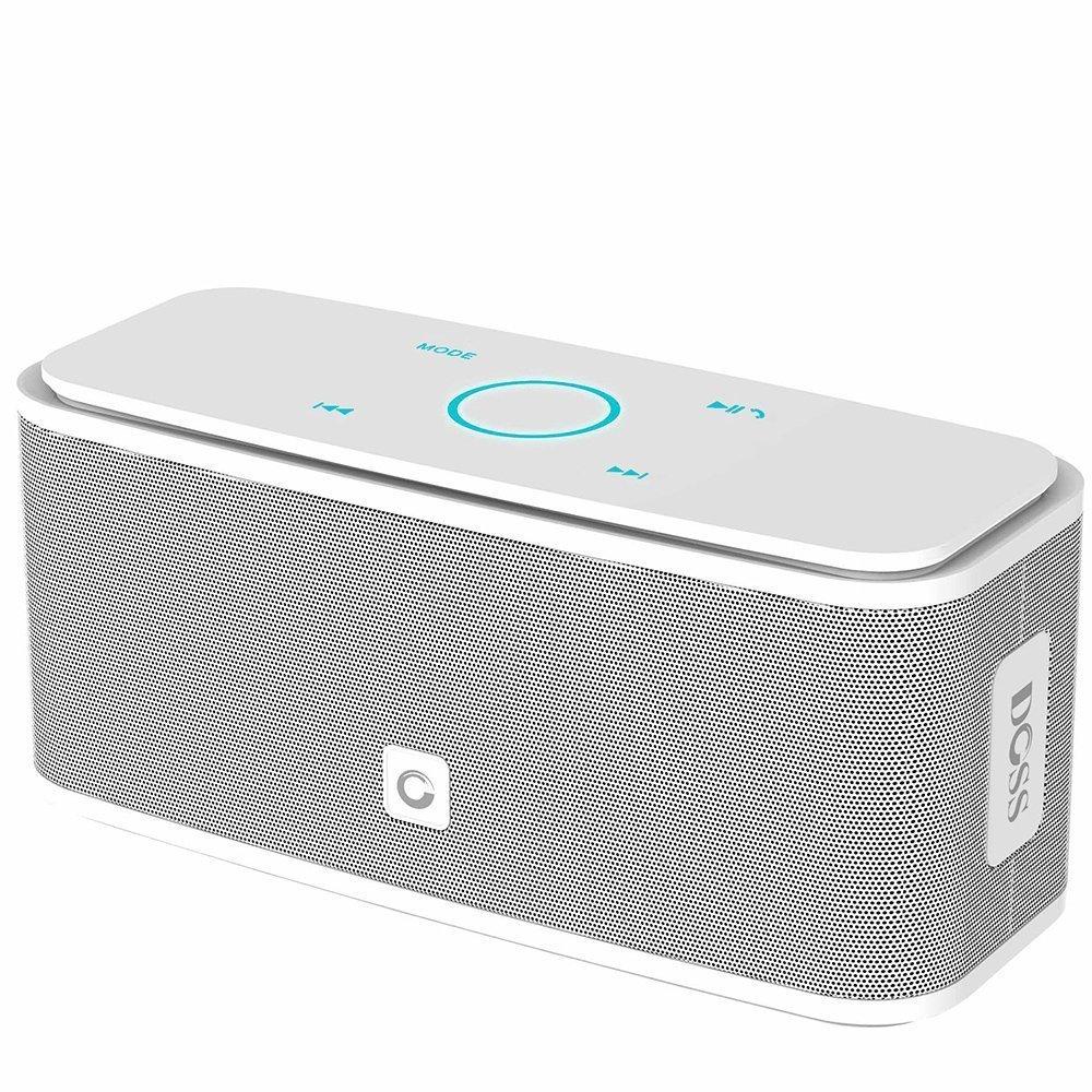 DOSS Touch Wireless Bluetooth V4.0 Portable Speaker Haut-Parleur Tactile avec Son HD et Super Bass BLANC