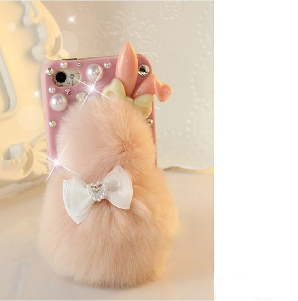 Galaxy S5 Fluffy Lapin Case Pochette Rose