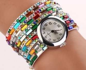 Bracelet Montre Watch Multi Color - LES COULEURS PEUVENT VARIER