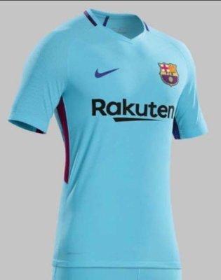 Barcelona Maillot Soccer Reserve 2017-2018  Barcelone Bleu - LARGE