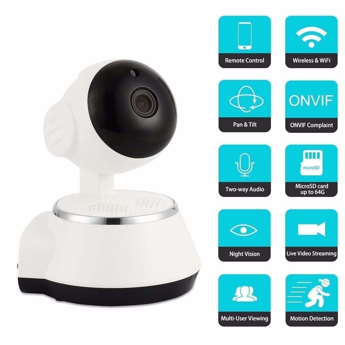 Wireless Monitor, M.Way Vide Wifi Monitor HD 720P Remote Home Security Camera Night Vision WIFI Webcam - Vendu a des clients avises. (NOT AN IP CAMERA)