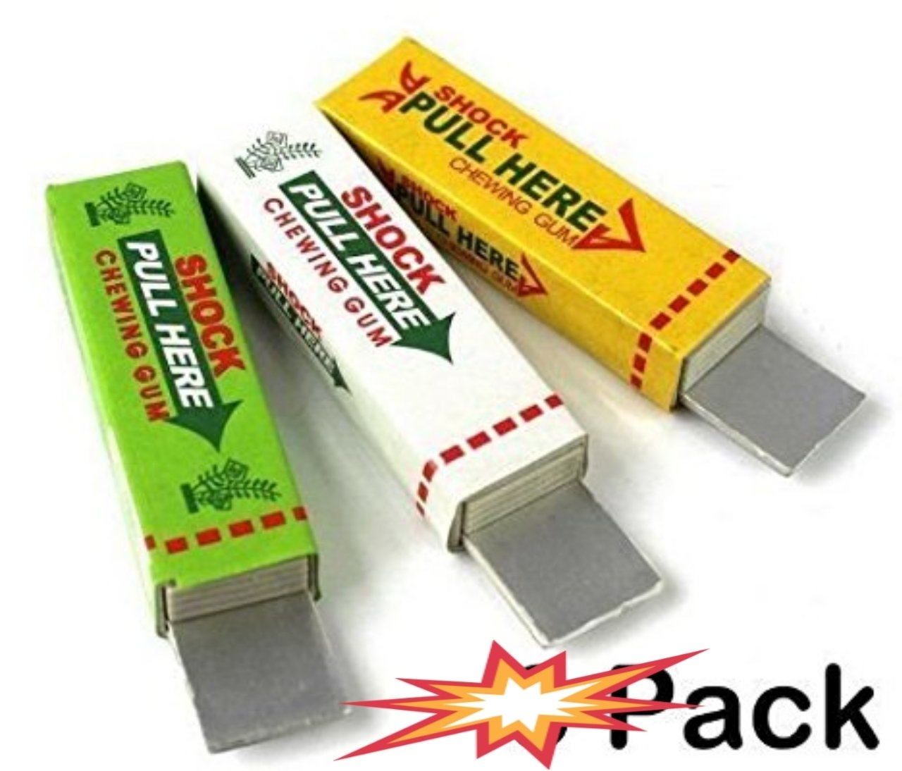 Chewing Gum Electrifiant pour Farceur & Blagueur - Electric Shock Chewing Gum