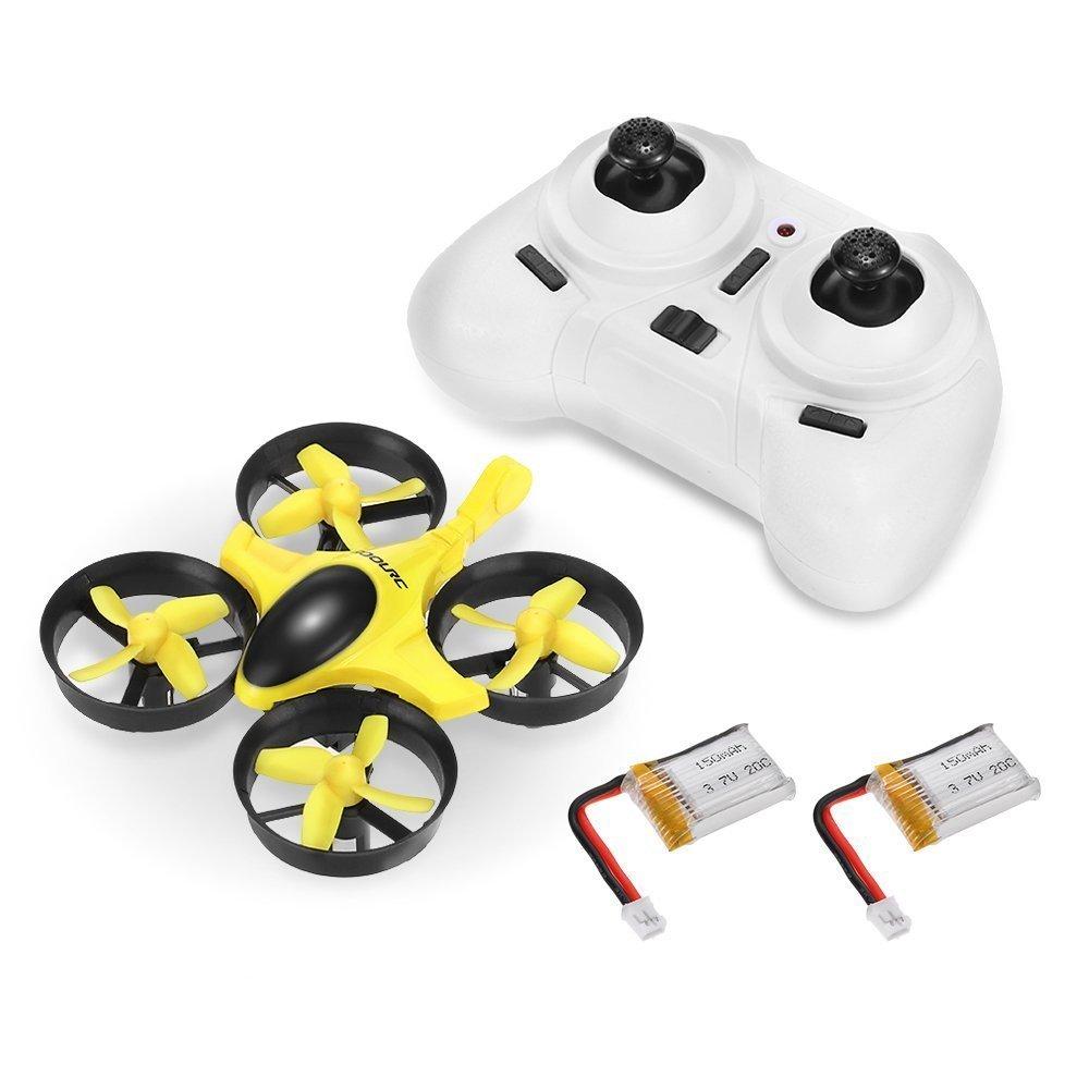 Mini Drone RC Quadcopter 2.4G  SANS CAMERA 2 Batteries Gratuites - 4 Channel 6 Axis - 3D Flip Headless Mode One Key Return Nano Copters RTF Mode 2 Plus 2 Batteries Gratuites