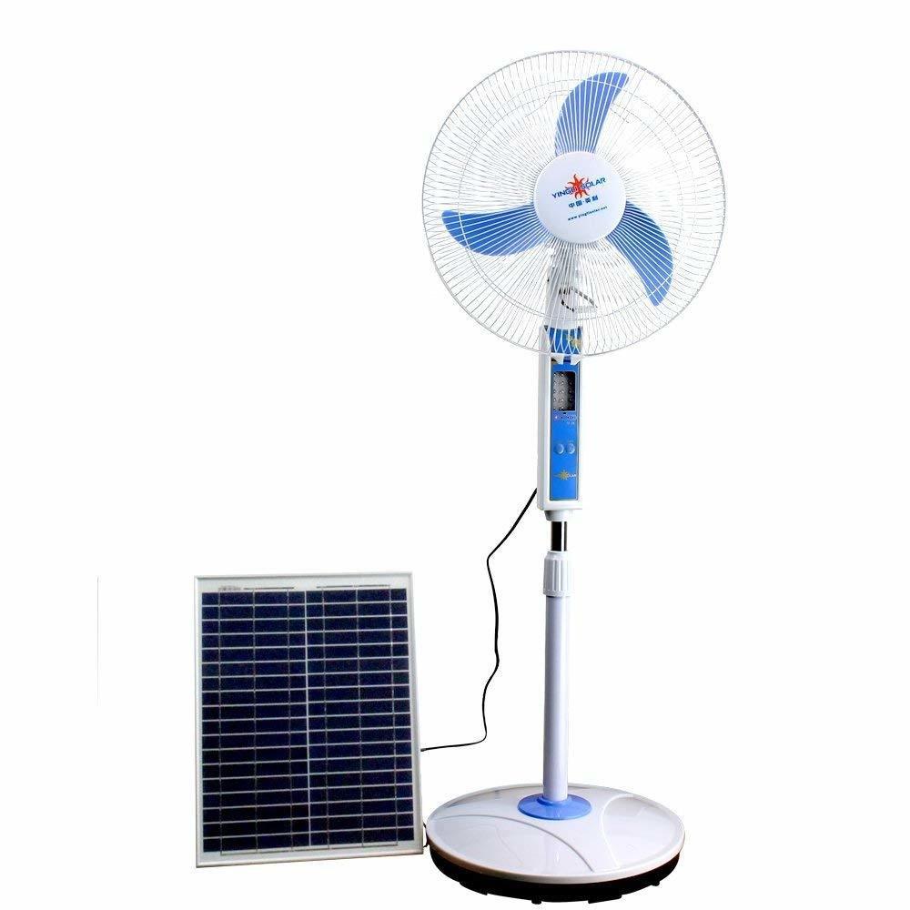 """Ventilateur Joker 16"""" RECHARGEABLE Courant 12 Volts (EDH)+ Remote Control. Lumiere Eclairage et Recharge Telephonique. IMPORTANTE NOTE: PAS DE PANNEAUX SOLAIRE EN STOCK /  PRIX REVISE"""