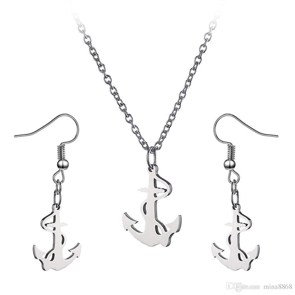 Chaine Pendentif avec Bouches D'Oreilles -Sailor Anchor