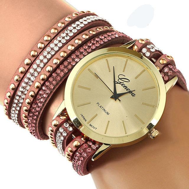 Bracelet Montre Quartz - Marron (CE MODELE PEUT VARIER)
