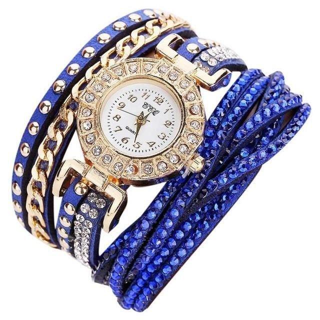 Bracelet Montre Quartz Watch - Bleu Roi (CE MODELE PEUT VARIER)