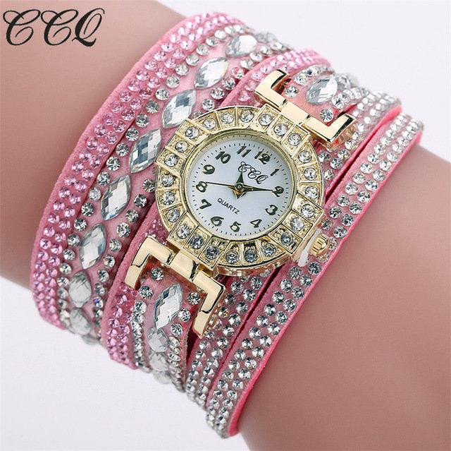 Bracelet Montre Quartz - ROSE CE MODELE PEUT VARIER)