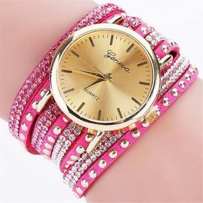 Bracelet Montre Quartz - ROSE (CE MODELE PEUT VARIER)