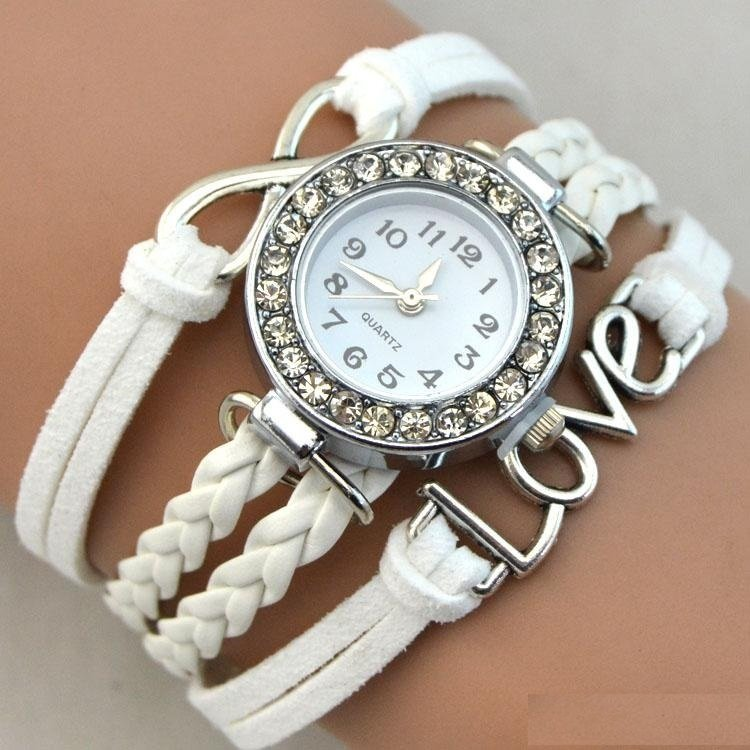 Bracelet Montre Quartz Love - Couleur White