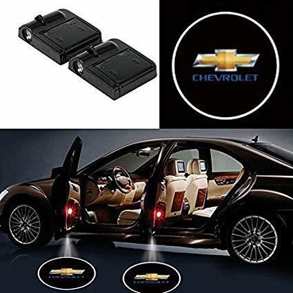 CHEVROLET Logo Projecteur LED Autocollant UNIVERSELLE Embleme - 3 Battery AAA NON INCLUS - Car Design Projector Laser OEM51