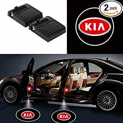 KIA Logo Projecteur LED Autocollant UNIVERSELLE Embleme - 3 Battery AAA NON INCLUS - Car Design Projector Laser OEM37