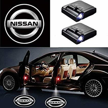 NISSAN Logo Projecteur LED Autocollant UNIVERSELLE Embleme - 3 Battery AAA NON INCLUS - Car Design Projector Laser OEM27