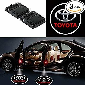 TOYOTA Logo Projecteur LED Autocollant UNIVERSELLE Embleme - 3 Battery AAA NON INCLUS - Car Design Projector Laser OEM19