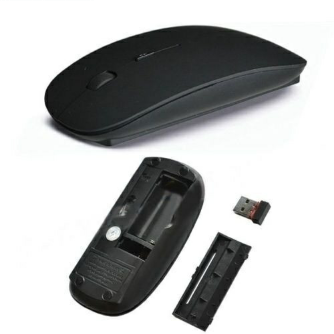 Wireless Mouse avec 4.0 USB Adapter (NOIR) - ShopEasy