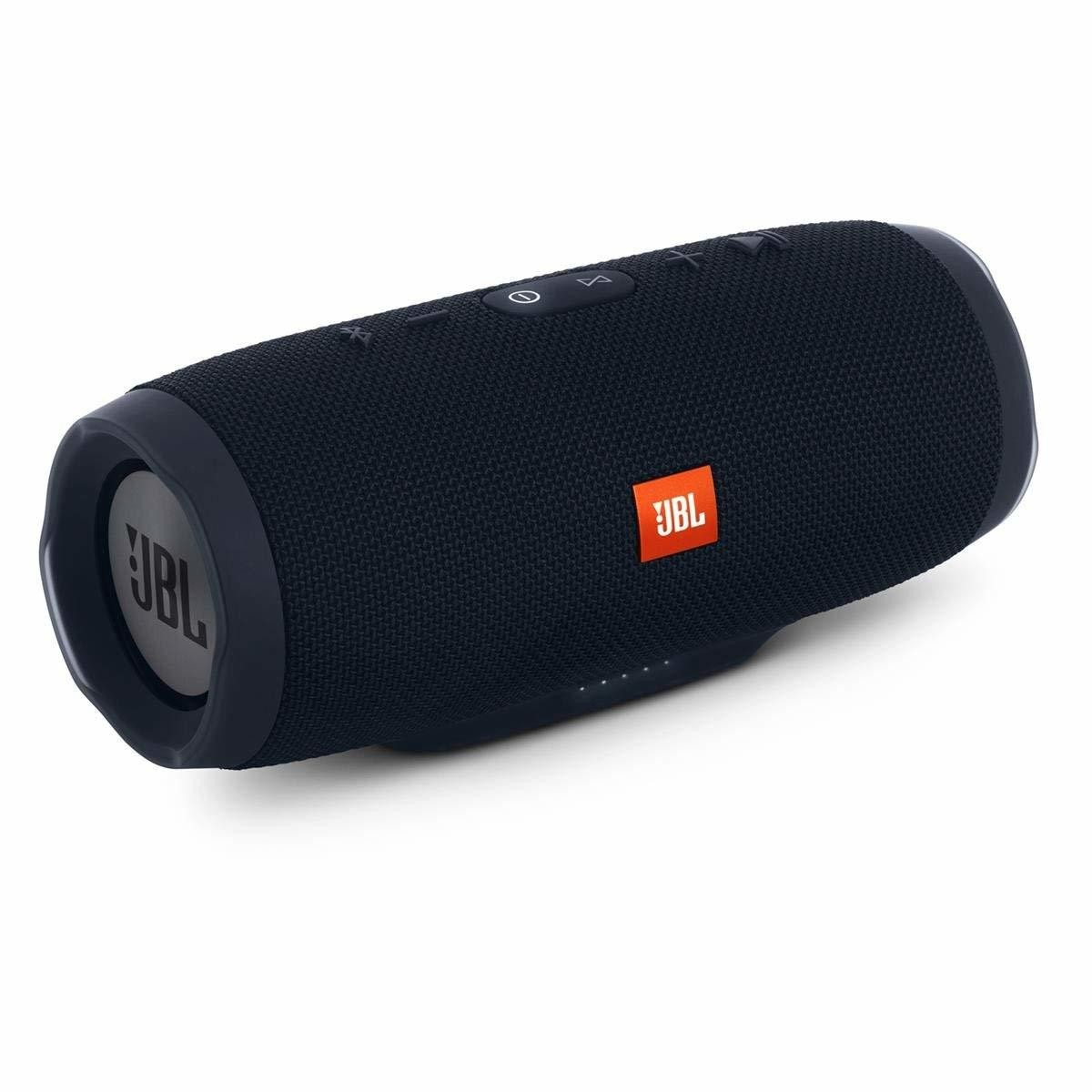 JBL Charge 3 Waterproof Bluetooth Speaker -Black (Certified Refurbished) -