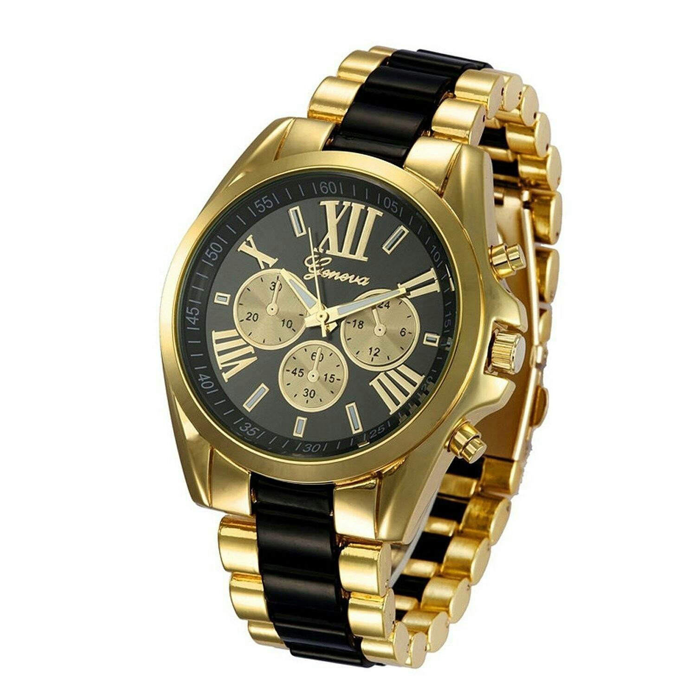 Montre pour Homme - Watch Gold Plated - NOIR et OR -