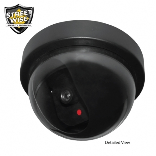 Dome Dummy Camera with Flashing LED Light BCSWDDCLCEP