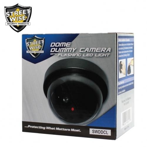 Dome Dummy Camera with Flashing LED Light
