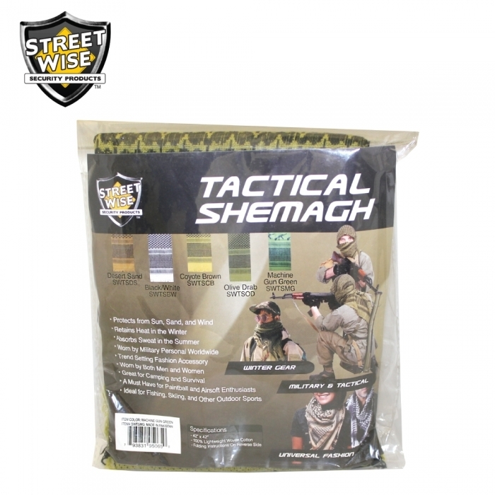 Tactical Shemagh Machine Gun Green