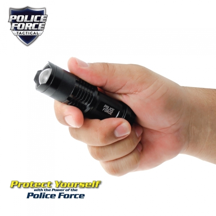 Mini Tactical Cree Flashlight w/ Slide Zoom