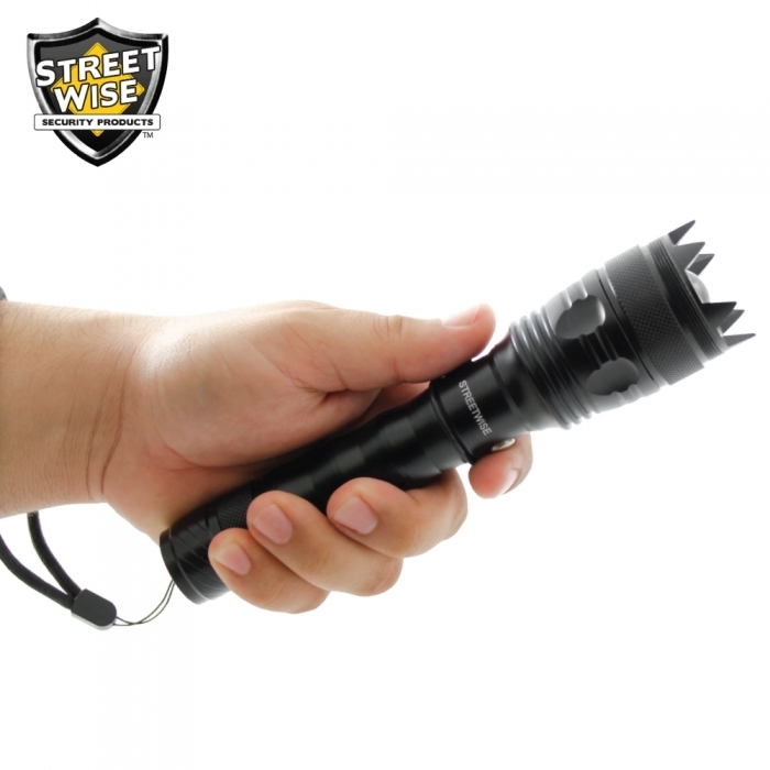 Cree LED Flashlight w/ Self Defense Spikes