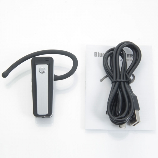 720P H.264 HD Spy Bluetooth Earphone with Hidden Camera Black