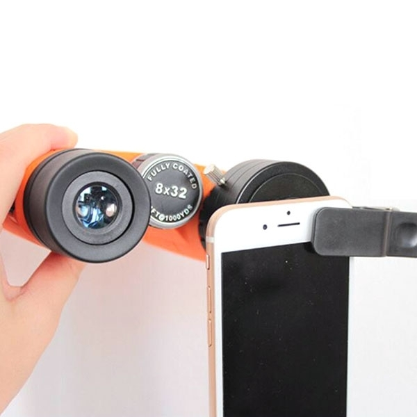 Telescope Adapter Cellphone Lens Monocular Binoculars Mount with Clip Dia 43.5mm Size S