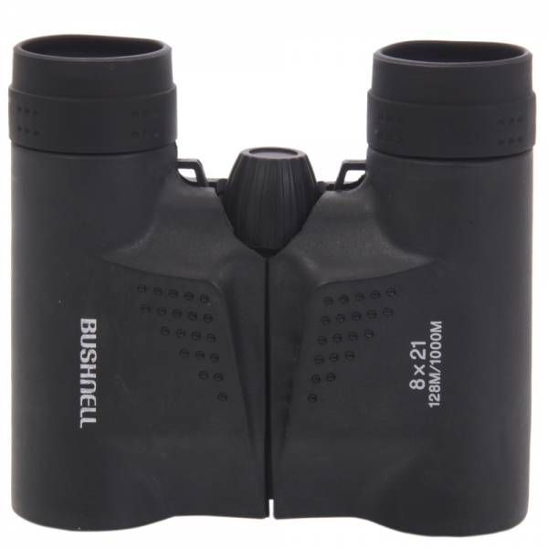 8x21 Powerview Compact Folding Roof Prism Binocular Black