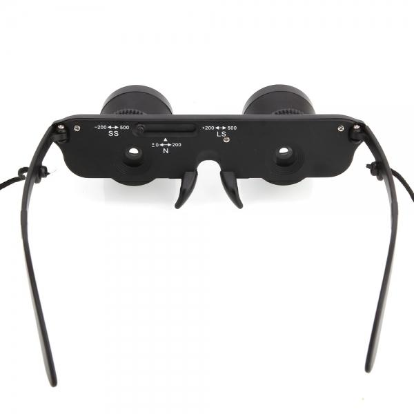 3x28mm Binocular Fishing Glasses Style Transparent Lens 60m/1000m View Black