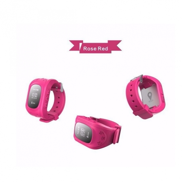Q50 English Edition Children Kids GPS Tracker Watch with SOS Button Pink