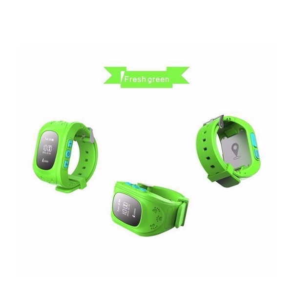 Q50 English Edition Children Kids GPS Tracker Watch with SOS Button Green