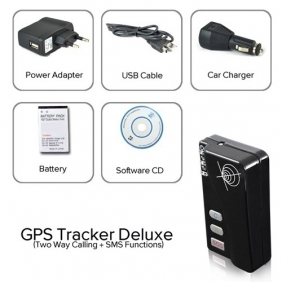 Quad Band GPS Tracking Device Two Way Calling SMS Functions Security Tool
