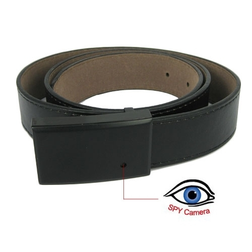Black Leather Belt Style Spy Camera Support 16G BC520015CSC